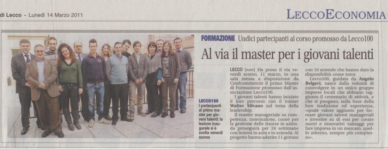 Giornale di Lecco del 14 marzo 2011