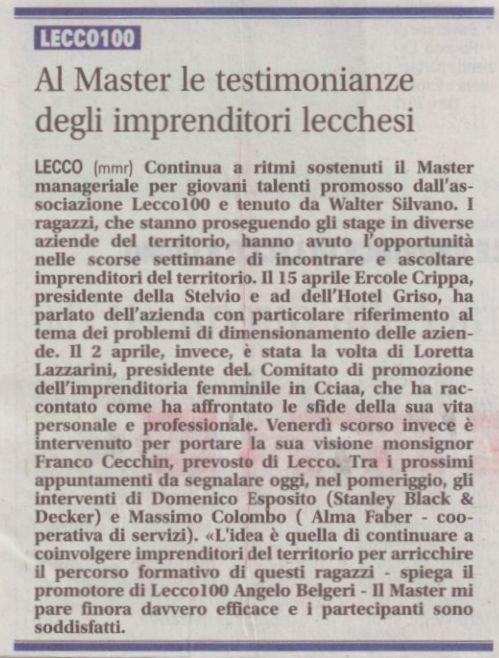 Giornale di Lecco 3 maggio 2011