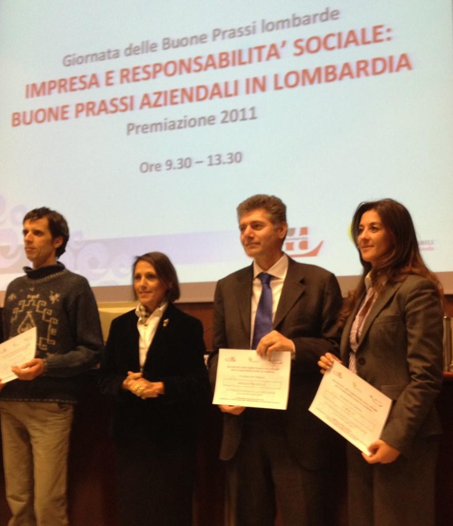 Premiazione Unioncamere Lombardia 14 dicembre 2011